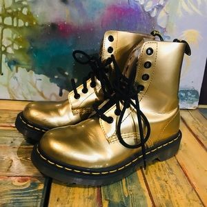 GOLD Doc Martens US size 5 great condition